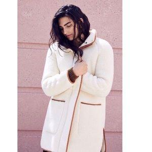 NEW Madewell Sherpa Estate Long Coat